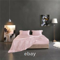 100% Mulberry Silk Flat Sheet 19 Momme Single/Double/King Silk Flat Bed Sheets