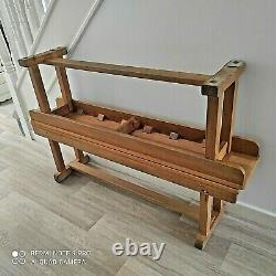 2 X Vintage Solid Beech Old School Benches / Kitchen Dining Benches MID 20th C