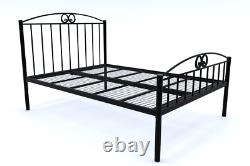 Ashford Extra Strong Wrought Iron Bed Frame with Mesh Base 10 Years Guarantee