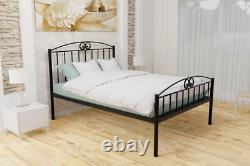 Ashford Extra Strong Wrought Iron Bed Frame with Solid Slats 5 Years Guarantee