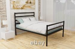 Bedford Extra Strong Metal Bed Frame with Solid Slats 5 Years Guarantee