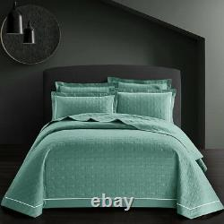 Bedspread 3 Piece Embossed Patchwork Comforter Bed throw Quilt Pillowcases Set