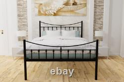 Brixton Extra Strong Wrought Iron Bed Frame with Mesh Base 10 Years Guarantee
