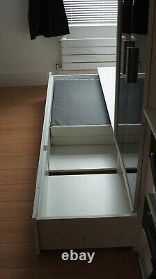 CABIN BED BUNK BED with storage KIDS LOW & HIGH SLEEPER BED Black & White