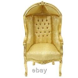 Children Baroque Style Cupola Armchair Gold # F0mb15