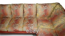 George Smith Signature Large 7 Seater Corner Sofa With Velour Floral Upholstery