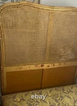 Gilt Bergere Louis XV style Bed -Very Good Condition for Age Very Solid