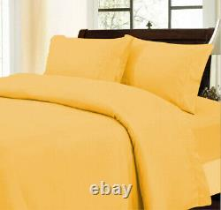 Glorious Bedding Lot of 2 Qty Gold Solid 5 PCs Duvet Set UK Small Double Size