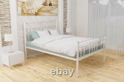 Grantham Extra Strong Metal Bed Frame with Solid Slats 5 Years Guarantee