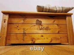 Hand Crafted Assembled Personalised Solid Wood Toy Box With Soft Close