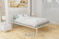 Ilford Extra Strong Wrought Iron Bed Frame with Solid Slats 5 Years Guarantee