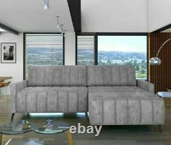 L-shaped Corner Sofa Bed MOLLY Springs Storage Container Sleep Function Modern