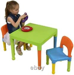 Liberty House Toys Children's Multi-Coloured Table & 2 Chairs Set, 51x51x43.5 cm