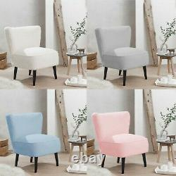 Malm Teddy Accent Chairs for Living Room Pink Upholstered Bedroom Vanity Seat