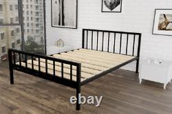 Maltby Extra Strong Metal Bed Frame with Solid Slats 5 Years Guarantee
