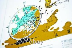 Map Of World Scratch Memory Travel Gifts Educational Children Decoration