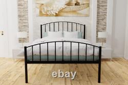 Marlow Extra Strong Metal Bed Frame with Solid Slats 5 Years Guarantee