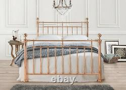 Metal Rose Gold Luxury Victorian Bed 4ft6, 5ft King Bedroom Furniture Brand NEW