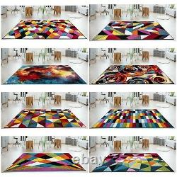 Modern Small Large Area Rugs Carved Quality Multi Colour Carpet Floor Runner Mat
