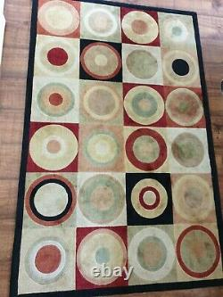 Multicolored Red/YellowithGreen/Black Shiny Rug Carpet from Glasswell 170cm/108cm