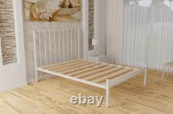 Nerlson Strong Reinforced Metal Bed Frame with Solid Slats 5 Years Guarantee
