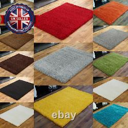 Non Shed Shaggy Rugs Anti Slip Fluffy Warm Bedroom Living Room Modern Washable