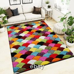 Non Slip Outdoor Rug Hand Carved Large Multi Colour Rugs Living Room Hall Runner