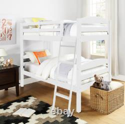 OXFORD BUNK BED 3ft Single Choose White/Antique Pine/Pink/Blue Solid Wood