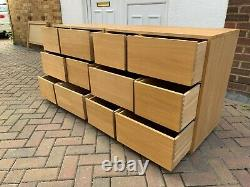 Pair Of Habitat Hana Oak Chest Of Drawers With 6 Drawers Each. Well Made