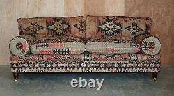 Rare New Old Stock George Smith Bulster Arm Kilim Upholstered Sofa Part Of Suite