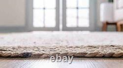 Rug Jute Oval Braided Handcrafted Hand Rug Oval Dhurrie Mats Living Area Rag Rug