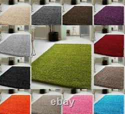 Rug Thick Shaggy Heavy Long Pile Soft Luxury Small Large Bedroom Living Hallway