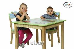 SOLD OUT Fantasy Fields Children's Wooden Transportation Table and 2 Chairs Set