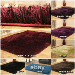 Silky Soft High Pile Sparkle Quality Shaggy Clearance Small Large Rugs Carpet
