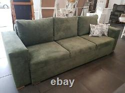 Sofa Bed Bottle Green with Storage Container Sleeping Function New Modern