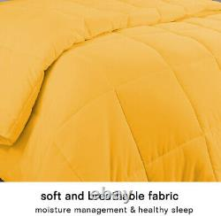 Soft Down Alternative Bedspread All Seasons Gold Solid Select GSM & Size