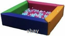 Soft Play PVC Foam Children's MultiColoured Square Ball Pool Activity Toy