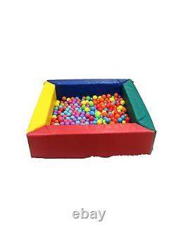 Soft play Childrens Multi-coloured Square Ball Pool Pvc &foam made Activity Toy