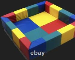 Softplay Balls Pool Childrens Pvc Foam Square Multi-coloured Activity Toy 5ftx5
