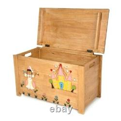 Solid Rubber Wood Fairy Toy Box Wooden Handmade Fair Trade FU-687-F