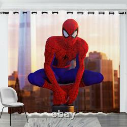 SpiderMan Blackout Curtains Ready Made Eyelet Ring Home Window Drapes 2 Panel
