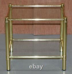 Suite Of Three Vintage Gold Gilt Tables, Pair Of Side Table & One Larger Coffee