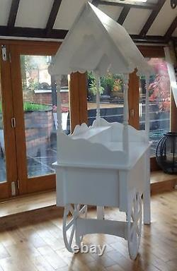 Sweet candy cart for sale handmade wedding cart market cart fully collapsible