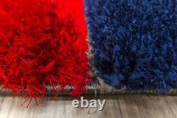 Thick Funky Bright Shaggy Squares Super Soft Silky Deep Pile 3D Floor Rug Mat