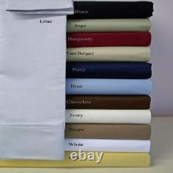 UK King Size 1000 Thread Count Extra Deep Pocket All Bedding Items & Solid Color