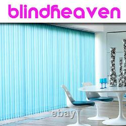 VERTICAL BLINDS Made To Measure Blinds4uDirect Branded in 60 Colours, 89mm 3.5