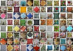 Wholesale Lot 200-Pc Assorted Indian Handmade Kantha Pillow Case Cushion-Cover